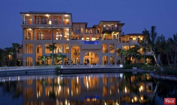 Incredible Story Tuscan Inspired Waterfront Mansion