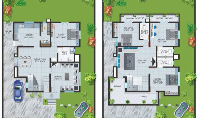 Independent Bungalow Layout Plan Patel Pride Aurangabad