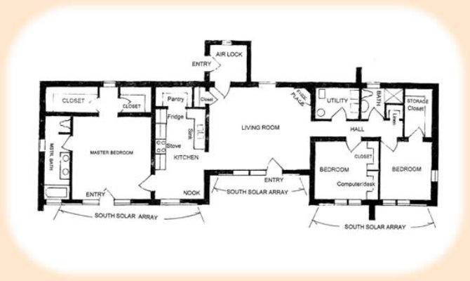 Indirect Passive Solar Floor Plans