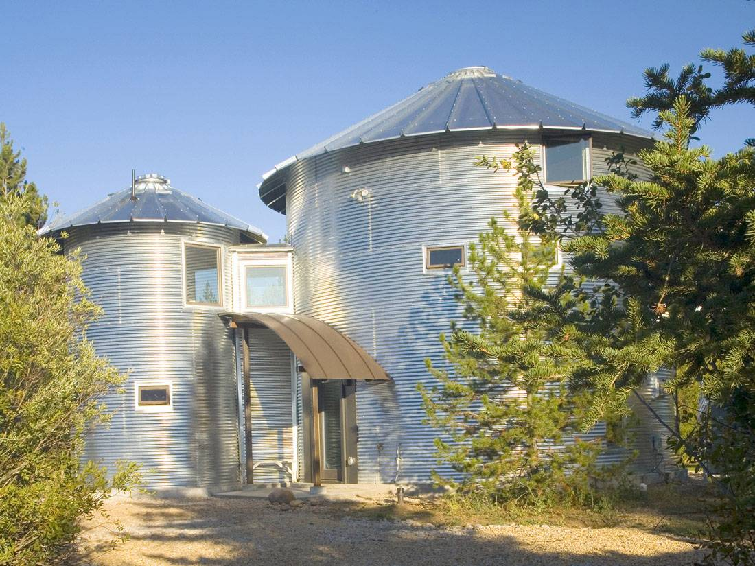 Inexpensive Home Using Grain Silos Idesignarch Interior Design