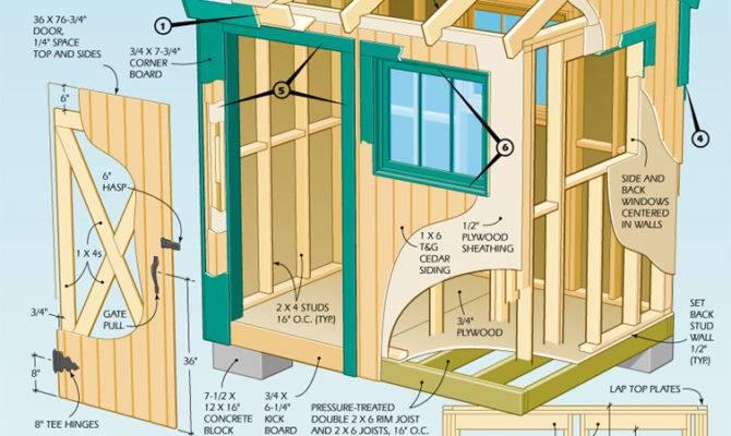 Information Outdoor Shed Plan Blueprints