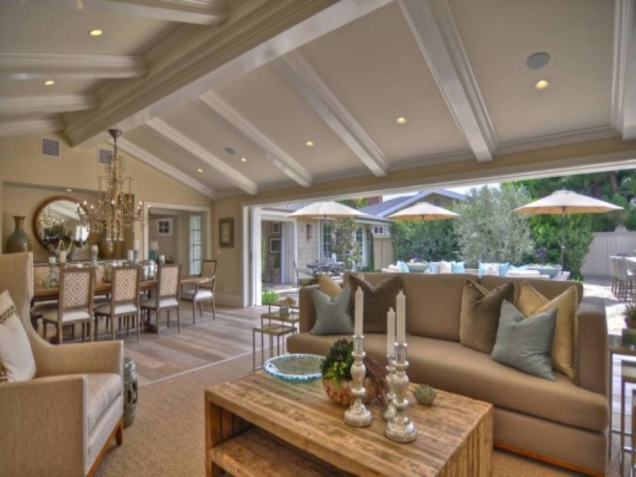 Interior Decoration Small House Vaulted Ceilings Open