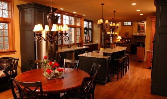 Interior Lighting Round Dining Table Open Kitchen Floor Plans