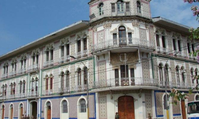 Iquitos Architecture Blue Tile Designs Called Azulejos