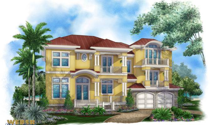 Island House Plans Contemporary Style Home Floor