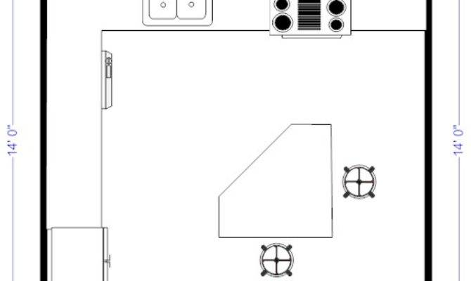 Island Kitchen Floor Plans Shaped