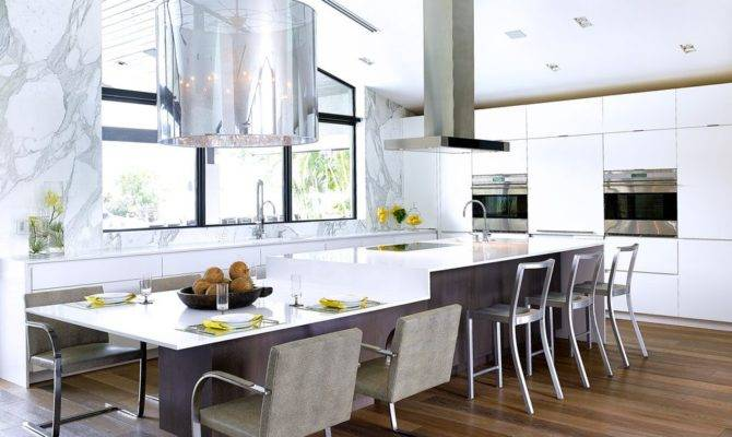 Island Overhang Kitchen Contemporary Black Metal Wire