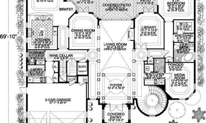 Italian House Plan Bedrooms Bath