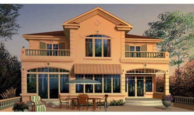 Italianate House Plan Master Suite Has Access Private Balcony