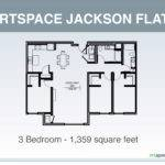 Jackson Flats Floor Plan Three Bedroom
