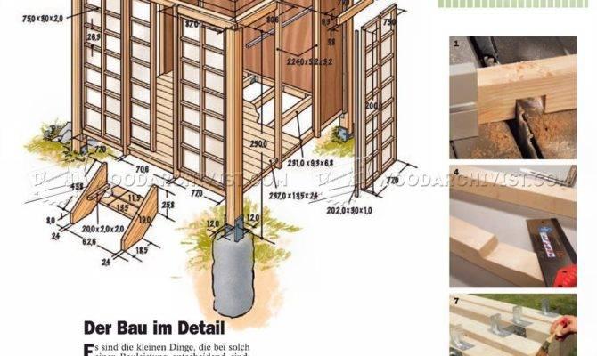 Japanese Tea House Plans Woodarchivist