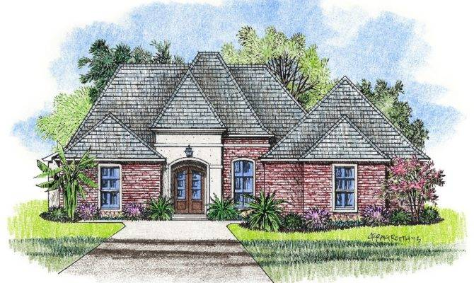 Justin Country French Home Plans Louisiana House