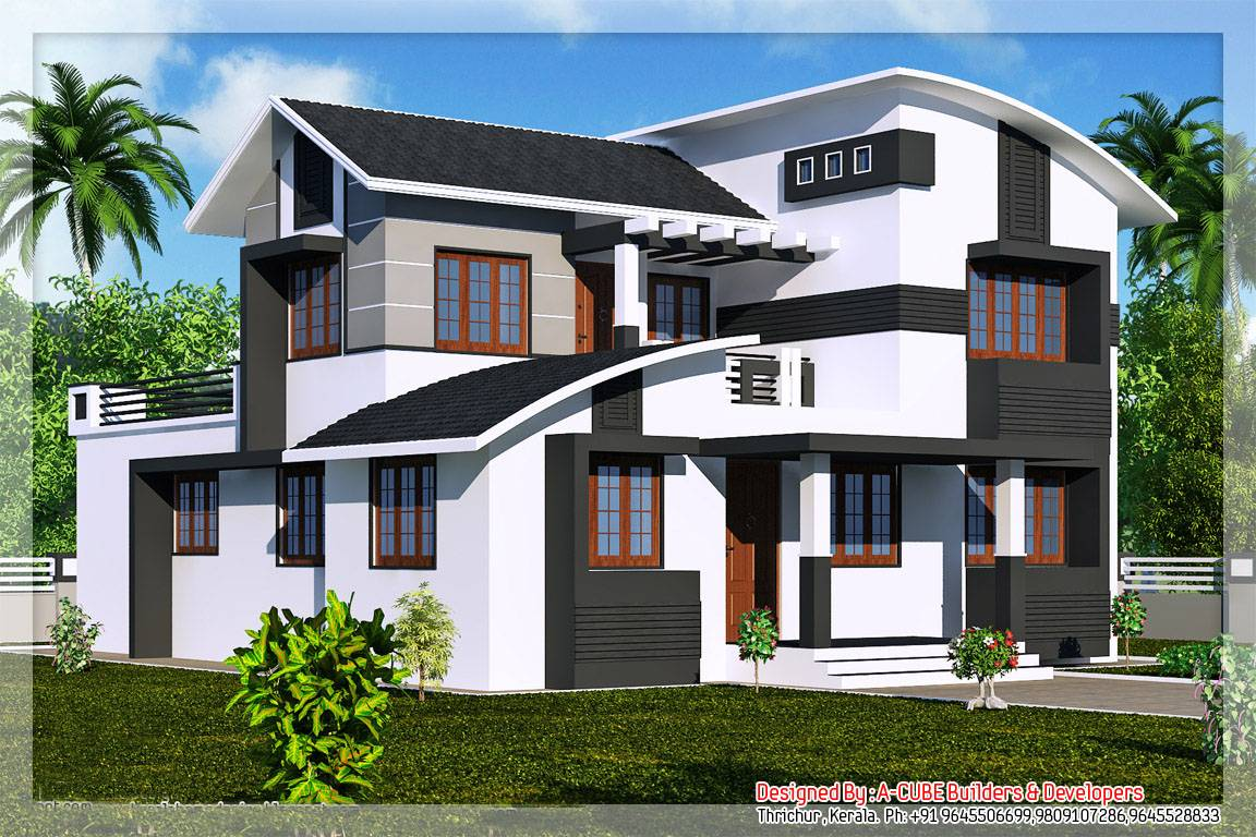 Kerala New Style House Photos Homes Floor Plans