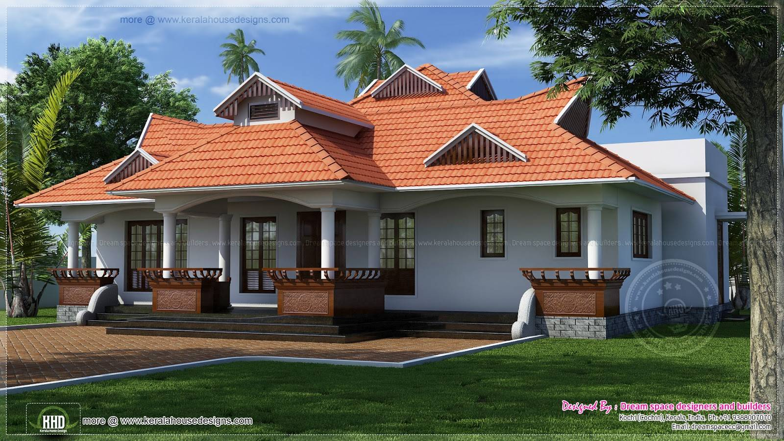 Kerala Style One Floor House Home Design Plans