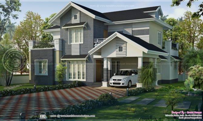 Kerala Style Sloped Roof House Design Green Homes