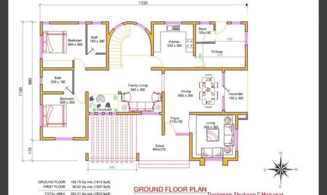 Kerala Villa Elevation Plan