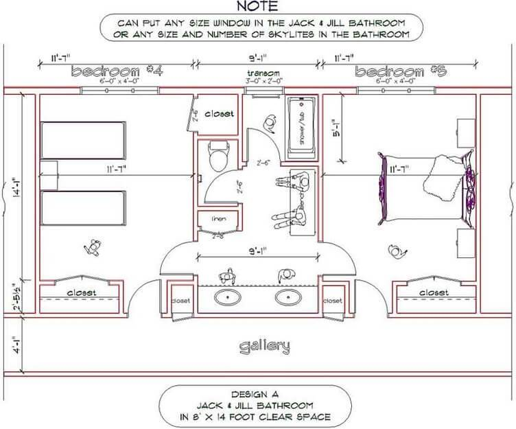 Key Benefits Jack Jill Bathroom Floor Plans