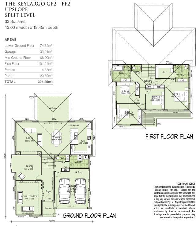 Keylargo Tri Level Upslope Home Design