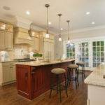 Kitchen Adjacent Triple French Door Opening