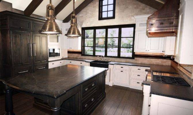 Kitchen Cathedral Ceiling Transitional