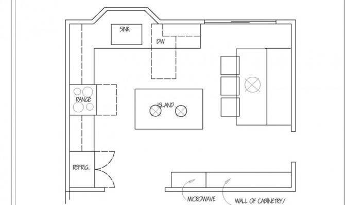 Kitchen Chic Small Layout Detail Floor Plan Idea