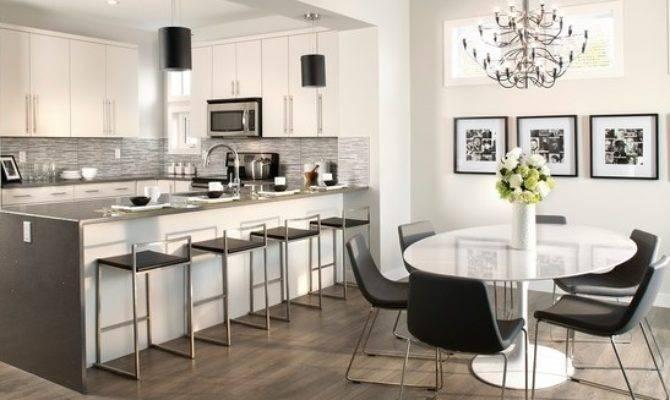 Kitchen Dining Room Grey Laminate Floor