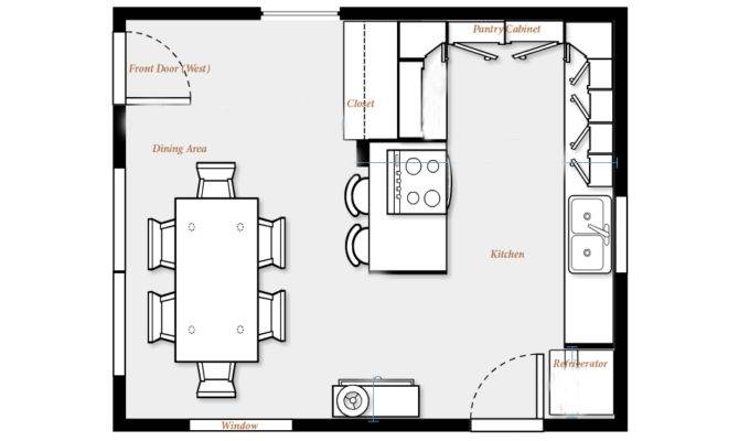 Kitchen Floor Plans Island Design Ideas