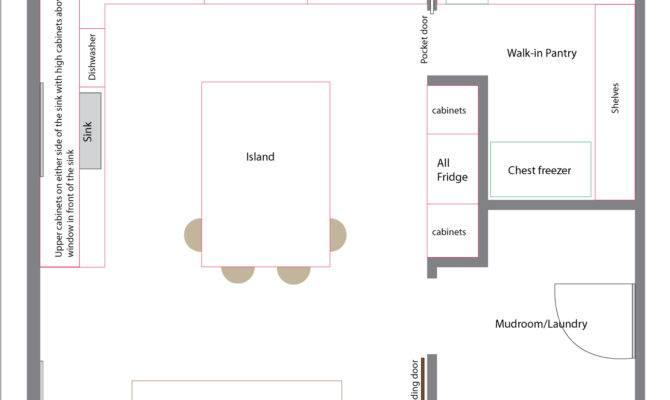 Kitchen Floor Plans Island Walk Pantry Others
