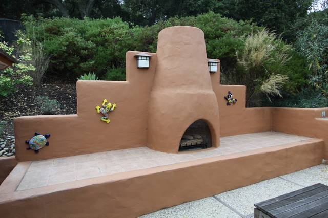 Kiva Fireplace Southwestern Patio San Francisco