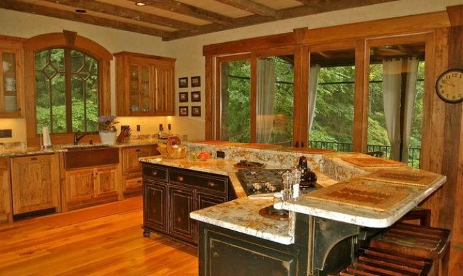 Lake Burton Mountain Home Eclectic Kitchen Atlanta