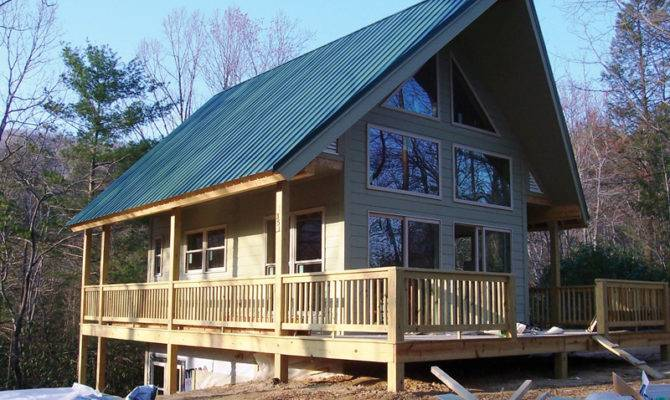 Lake Home Plans Narrow Lot Cabin