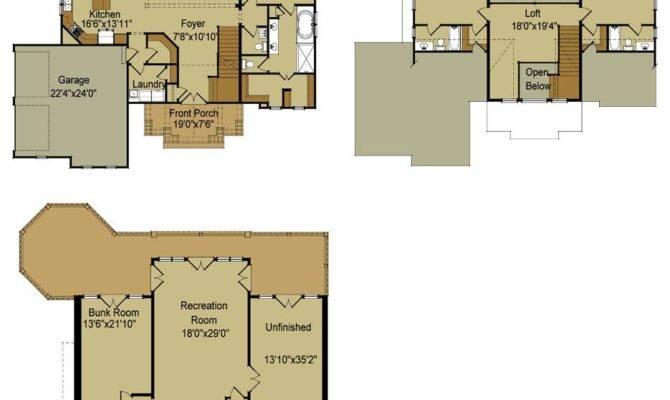Lake House Floor Plans Walkout Basement