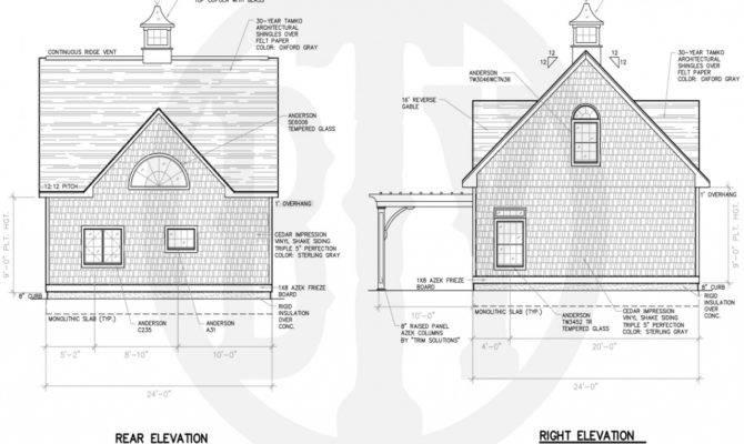 Lake House Plans Rear
