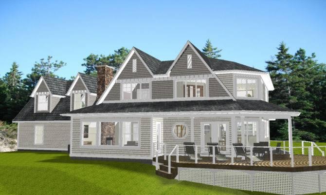 Lake Huron New England Style House Plans