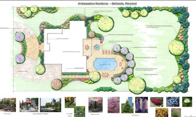 Landina Looking Backyard Landscape Design Plans
