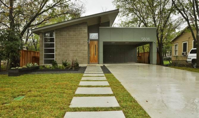 Landscape Modern Concrete Block House Plans