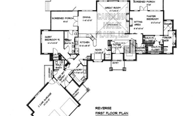 Large Craftsman Style House Plan Crft Luxury