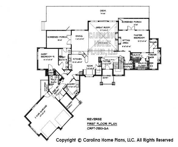Large Craftsman Style House Plan Crft Luxury