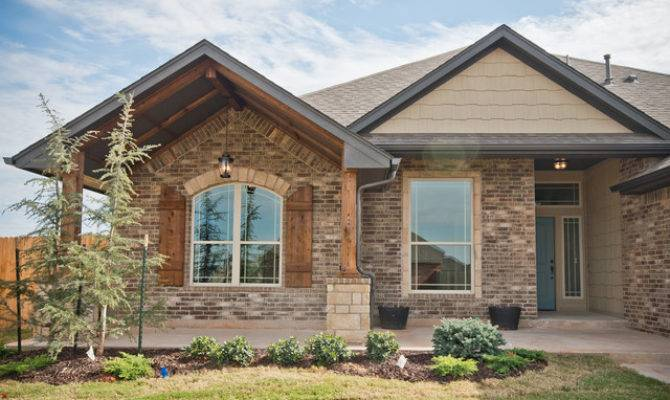Large Front Porch Brick Stone Accents