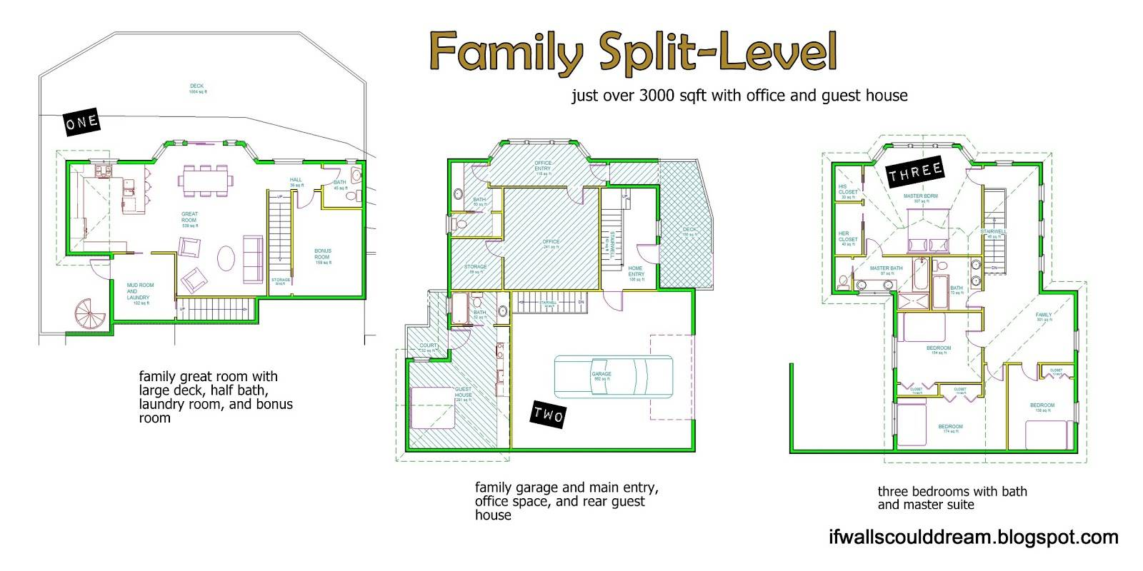 Large House Built Like Split Level Three Stories