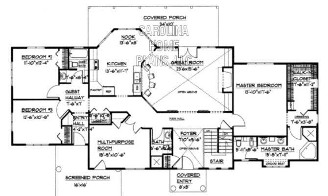 Large Open Floor House Plan Chp