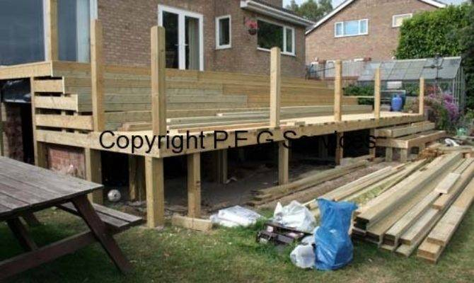 Large Raised Decking Project Near Wellingborough Peg