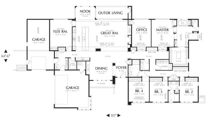 Large Ranch House Plans Style