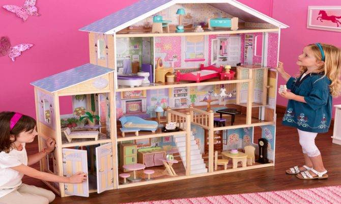 Large Wooden Barbie Dollhouse Global