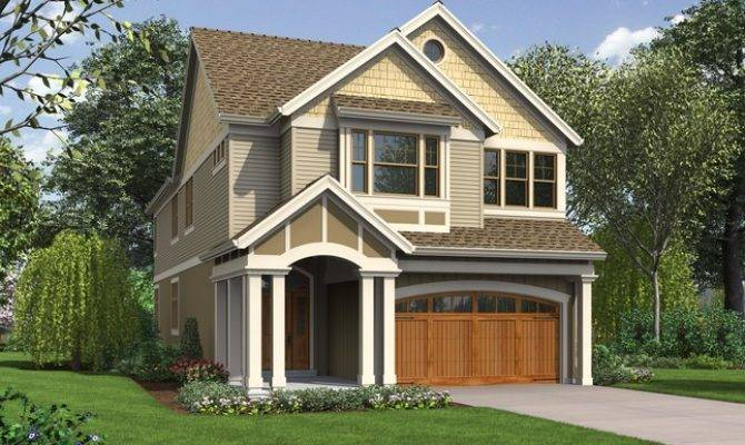Laurelhurst Home Plan Narrow Lots