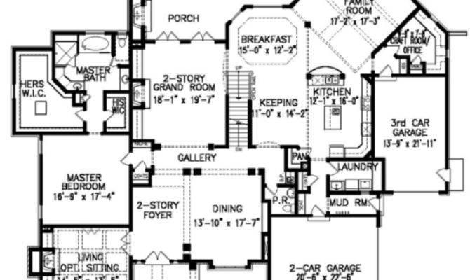 Laurelwood Manor House Plans First Floor Plan