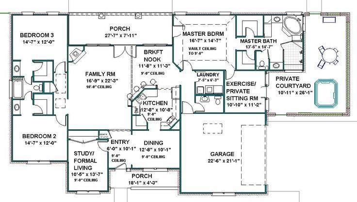 Law Suites Homes House Plans Home Floor