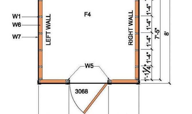 Lean Shed Plans Blueprints Garden