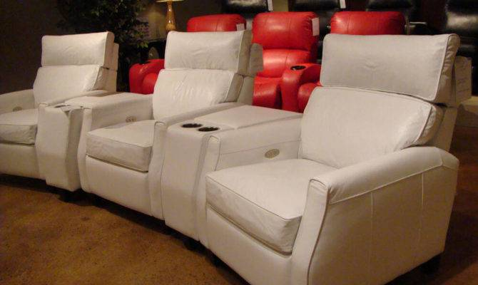 Leather Theater Sofa Furniture Design Living Room