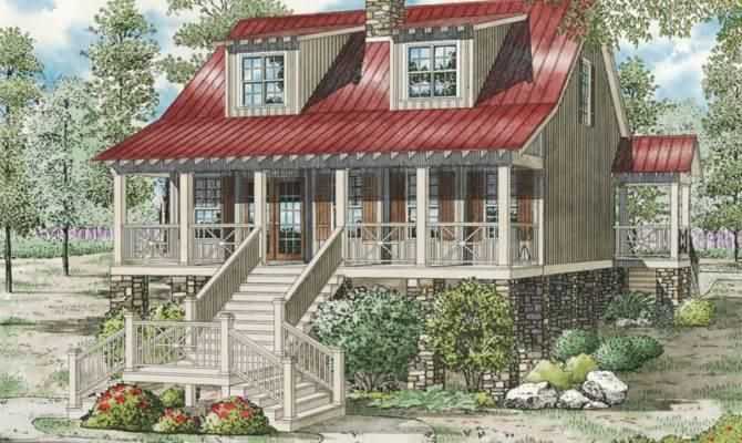 Leslie Pier Raised Cottage Home Plan House Plans More